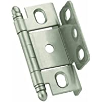Amerock PK3175TBG10 Full Inset, Full Wrap, Ball Tip Hinge with 3/4in(19mm) Door Thick. - Satin Nickel by Amerock