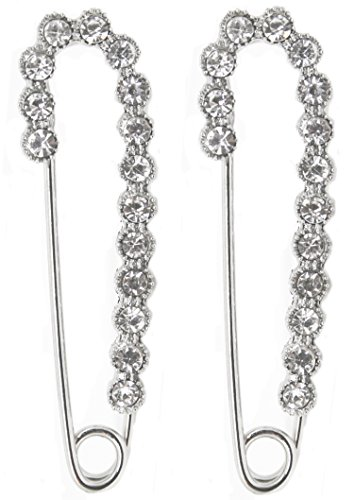 APPARELISM Silver Plated Clothing Scarf Rhinestone Pin Brooch Jewelry with Gift Box(1-2) by APPARELISM