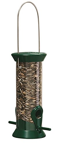 (Droll Yankees CJM8G 8-Inch Green New Generation Sunflower Tube Feeder)
