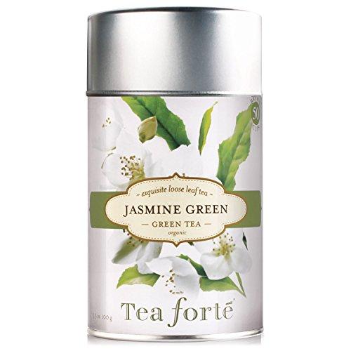 Tea Forte JASMINE GREEN Organic Loose Leaf Green Tea, 3.5 Ounce Tea Tin