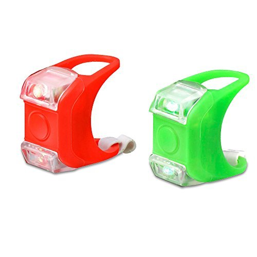 Mudder Boat Bow LED Navigation Light, 2 Pack (Red and Green)