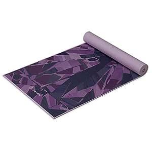 Gaiam Yoga Mat Premium Print Extra Thick Non Slip Exercise & Fitness Mat for All Types of Yoga, Pilates & Floor Exercises, Violet Prism, 6mm
