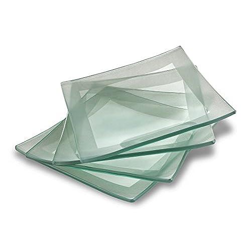 GAC Elegant Designed Tempered Glass Dessert Plates Set of 4 - Unbreakable - Chip Resistant - Oven Proof - Microwave Safe - Dishwasher Safe - Stackable 6 ...  sc 1 st  Amazon.com & Decorative Dessert Plates: Amazon.com