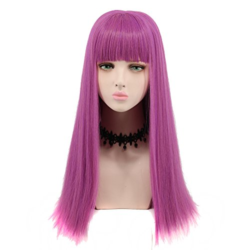 Yuehong Long Straight Anime Adult Fashion Women's Cosplay Wig Party Wig]()