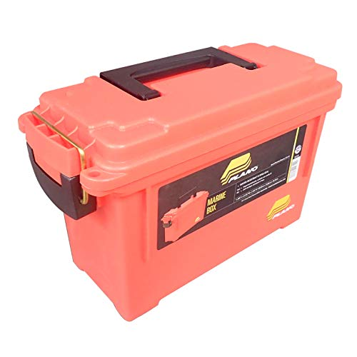 Plano 131252 Dry Storage Emergency Marine Box, Orange ()