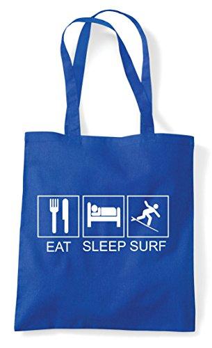 Tote Activity Sleep Blue Bag Royal Surf Funny Hobby Eat Shopper Tiles YqUg4