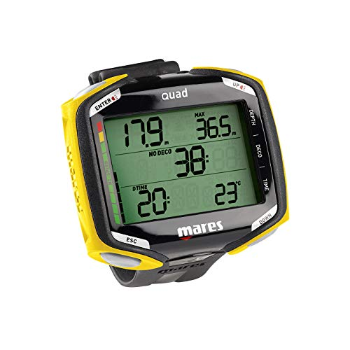 Mares Quad Wrist Dive Computer Black Yellow