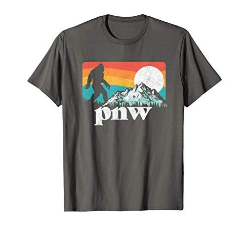 PNW - Pacific Northwest Bigfoot Mountains T-Shirt