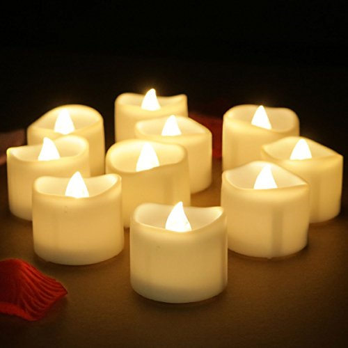 Tea Light Candles With Battery-Powered wedding Candles Decorations For Parties Events Tea Light Candles (Warm-Yellow)