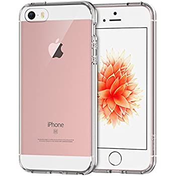 JETech Apple iPhone SE 5S 5 Case Cover Shock-Absorption Bumper Anti-Scratch Clear Back (Crystal Clear)