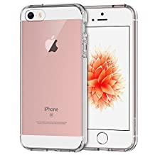 iPhone 5s Case, JETech iPhone SE Case Bumper Shock-Absorption Bumper and Anti-Scratch Clear Back for iPhone SE/5/5S (HD Clear) - 0426
