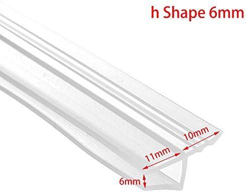 Sello 1M 6-12 mm de caucho de silicona de cristal de ventana Sello de Gaza