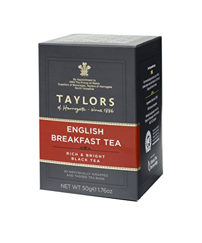 Taylors of Harrogate English Breakfast, teabags, 20 Count (Pack of 1)