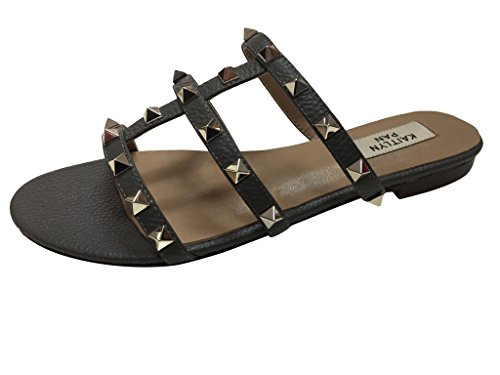 a4c84dcd1800 Kaitlyn Pan Genuine Leather Women s Studded Flip-Flop