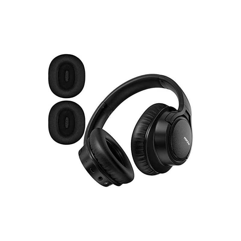 56009990ad2 Mpow H7 Plus Bluetooth Headphone, Powerful Bass and aptX CD-Like Audio,  Stereo Wireless Over-Ear Headphone with CVC6.0 Micphone, Replaceable  Passive ...