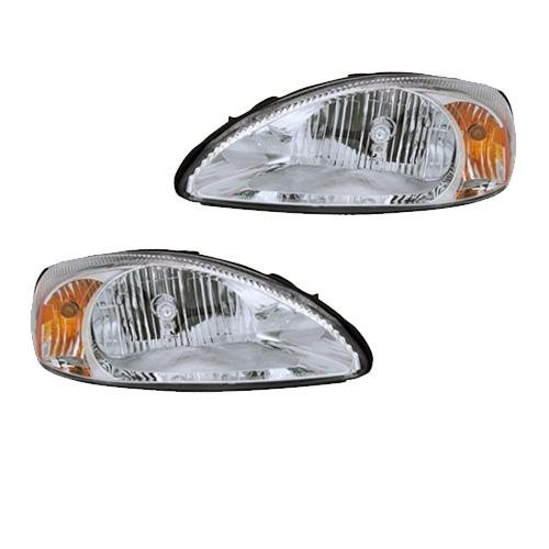 Newmar Kountry Star 2005-2008 RV Motorhome Pair (Left & Right) Replacement Headlights Head Lights Front Lamps Lighting 4 U