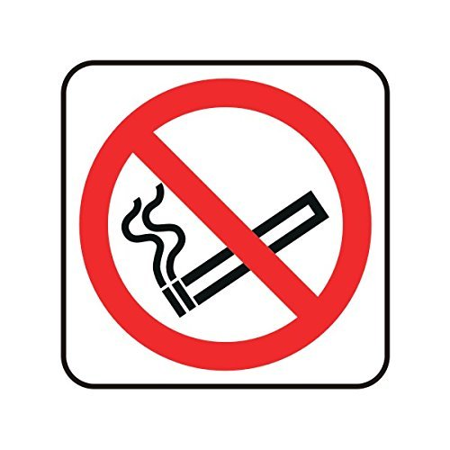 No Smoking Logo - hiusan 200mmx200mm No Smoking Logo Catering Sign Plastic Warning Signs Stickers Self Adhesive Funny Safety Sign for Property