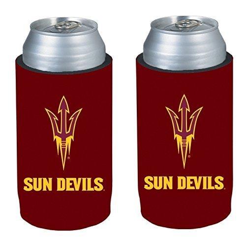 NCAA 2013 College Ultra Slim Beer Can Holder Koozie 2-Pack (Arizona State Sun Devils)