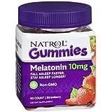Natrol Melatonin 10 mg Gummies Strawberry - 90 ct, Pack of 3