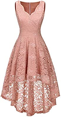 Women S Floral Lace Dress Asymmetrical Hi Lo Formal Party Cocktail