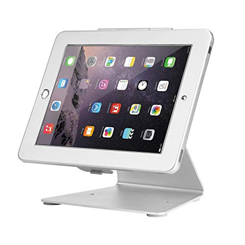 Smonet iPad Desktop Anti-Theft Security POS Stand Holder Enclosure with Lock and Key for Tablets...