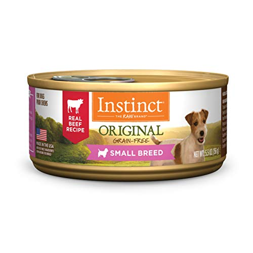 Instinct Original Small Breed Grain Free Real Beef Recipe Natural Wet Canned Dog Food by Natures Variety, 5.5 oz. Cans (Case of 12)