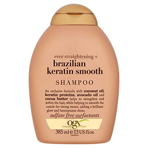 OGX Ever-Straightening + Brazillian Keratin Therapy Shampoo, 13 Ounce