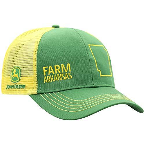 John Deere Farm State Pride Cap-Green and Yellow-Arkansas