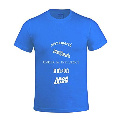 [under the influence ep Men Tee Crew Neck Casual Blue] (Traditional Russian Outfits)