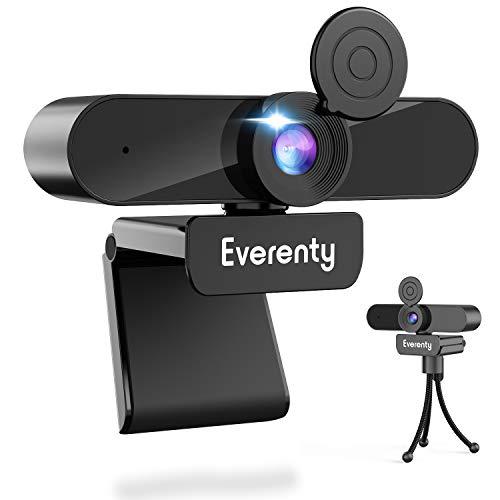 🥇 Everenty Webcam PC 1440P Full HD Webcam con Micrófono Estéreo