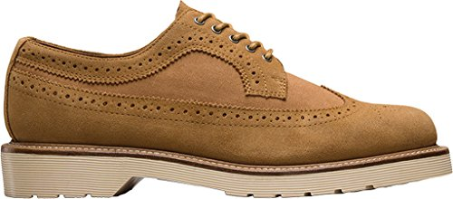 Dr Martens 13843001, Unisex - Erwachsene Slipper Chestnut Hi Suede Wp/8 Oz Canvas