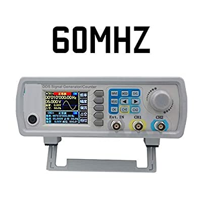 Digital Control JDS6600 MAX 60MHz Dual-Channel DDS Function Signal Generator Frequency Meter Arbitrary sine Waveform