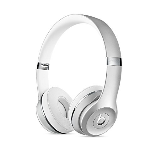 Headphones Headphones Silver (Beats Solo3 Wireless On-Ear Headphones - Silver (Renewed))