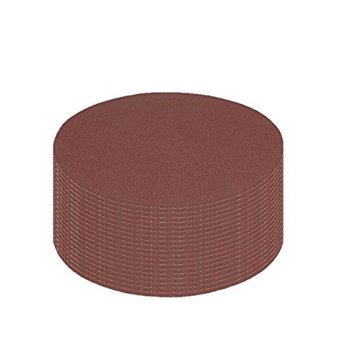 Hook and Loop Sanding Disc 400 Grits Flocking Sandpaper for Sander Brown ()