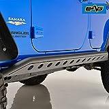 EAG Tubular Side Armor Rocker Guard Rock Sliders for 07-18 Jeep Wrangler JK 4 Door