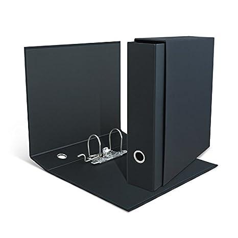"""Clam archivador negro """"Total Black con funda tamaño comercial Uni A4, lomo"""