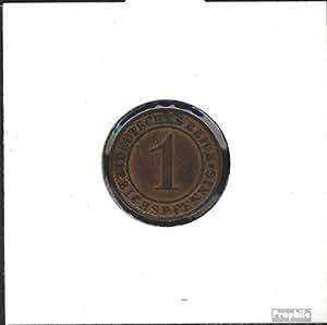 alemán Imperio Jägernr: 313 1927 D muy ya Bronce 1927 1 Reichspfennig Ährengarbe (monedas para los coleccionistas)
