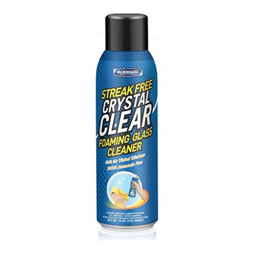 Blue Magic Streak Free Crystal Clear Foaming Glass Cleaner