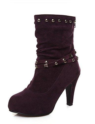 Trabajo Uk8 Mujer Plataforma Zapatos Vestido us10 Cono Botas Casual Xzz Marrón 5 Anfibias us9 Eu 5 Uk7 Semicuero Cn41 Oficina Eu42 Y Purple Black Cn43 negro Tacón Eu40 De RvwqC