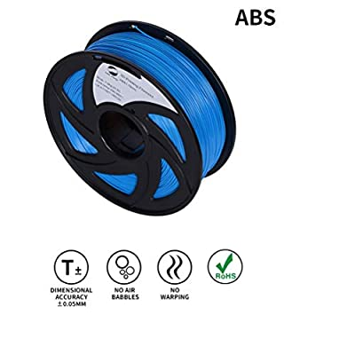 LEE FUNG 1.75mm ABS 3D Printing Filament Dimensional Accuracy +/- 0.05 mm 2.2 LB Spool DIY Material Tools (Blue)