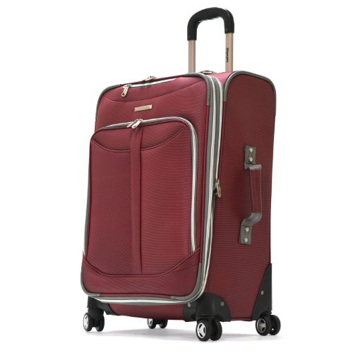 Olympia Luggage  Tuscany 21 Inch Expandable Spinner Airline Carry-On Upright,Red,One Size