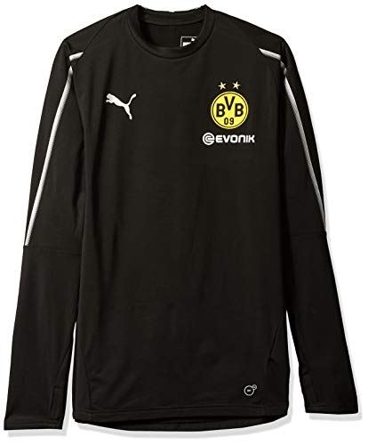 PUMA Men's BVB Training Sweat with Sponsor Logo, F Black, XXL