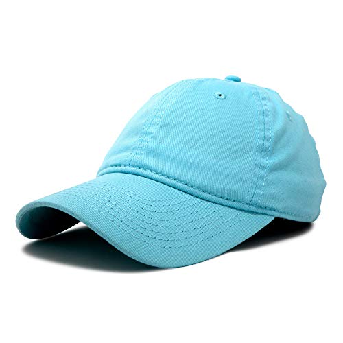 DALIX Womens Hat Lightweight 100% Cotton Cap in Light Blue]()