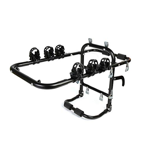(e Rack Carrierap On Ca Car Trunk Aluminum Alloy Foldable Mounted 3 Strap On Bike Bicycle Rack Carrier Aluminum All)