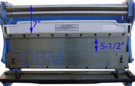30'' Shear Press Brake Bender Slip Roll Roller Sheet Metal Finger Box 20 Gauge by Generic (Image #3)