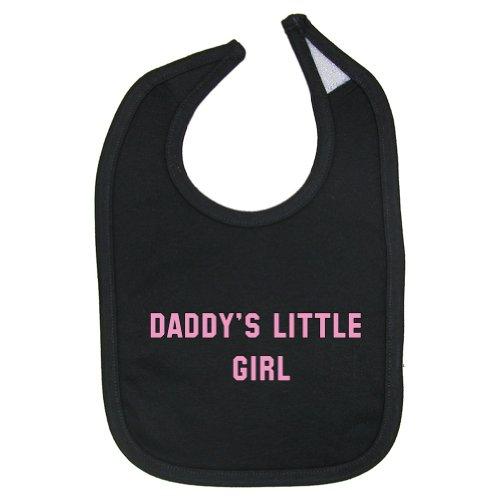 So Relative! Baby Girls' - Daddy's Little Girl (Pink Print) - Cotton Baby Bib (Black)