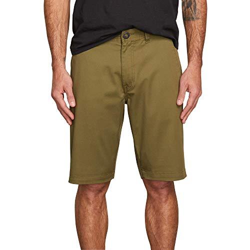 40 Cotton Polyester Short - Volcom Men's Frickin Modern Stretch Chino Short, Vineyard Green, 40