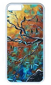 Abstract Bird Art Painting DIY Hard Shell White iphone 6 plus Case On Custom Service Kimberly Kurzendoerfer