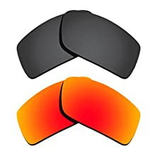Polarized Replacement Lenses for Oakley Gascan - Black&Orange Red Mirrored Coating