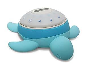 Tick Tock Turtle - Kai (Blue) Alarm clock for kids with Sleep Cycle Detection, Sunrise Alarm Clock, Night Light for Kids, Sleep Trainer, Child Safe Certified